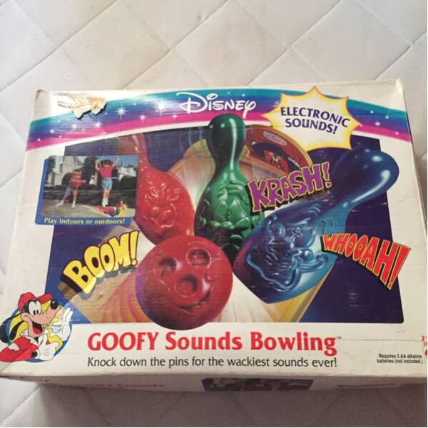 グーフィー ディズニー ボウリング おもちゃ 玩具 ビンテージ ディズニーグッズの画像