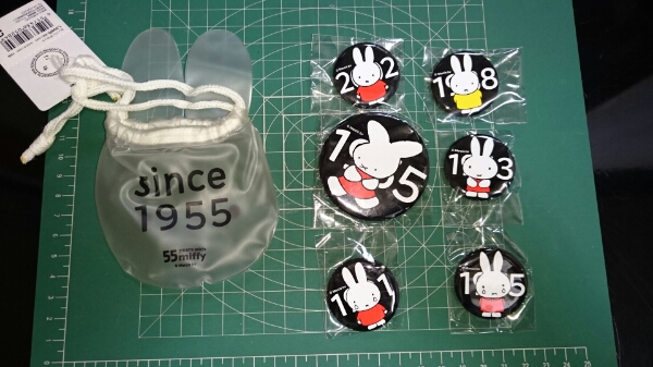 ミッフィー☆55years☆with☆miffy☆缶バッジセット☆since1955☆☆2010☆ グッズの画像