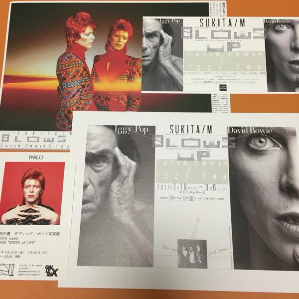 鋤田正義 BLOWS UP David Bowie Iggy Pop 写真展 ブックレット ポストカード チラシ +3 デヴィッド・ボウイ イギーポップ DAVID BOWIE is
