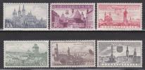 チェコ・諸都市景観<1957年>(未)6種完