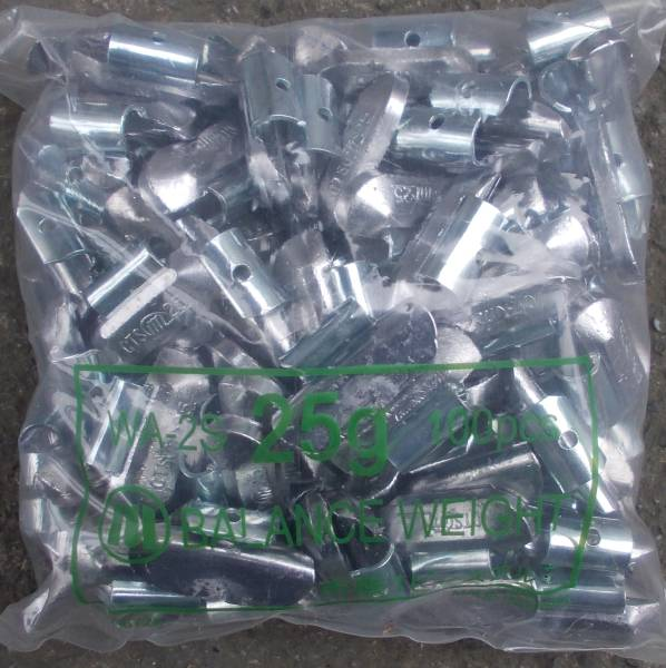 「/ 市販アルミホイール用 バランスウエイト 25g 100個入 鉛製 (タイヤチェンジャー)」の画像