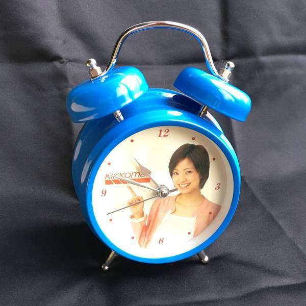 上戸彩 kikkoman 置き時計 ジャンク品