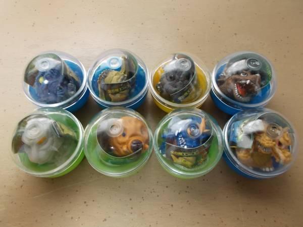 バンダイ ゴジラソフビコレクション 全8種セット ゴジラ2000 ガシャポン 指人形フィギュア グッズの画像