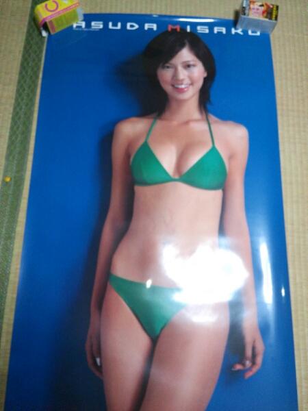 新品同様中古美品週間プレイボーイ安田美沙子等身大ポスター グッズの画像