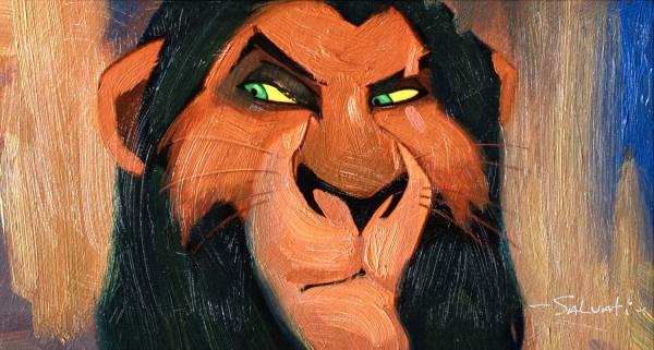 Disney Fine Art ディズニーファインアート ライオンキング スカー 限定 レア ディズニーグッズの画像