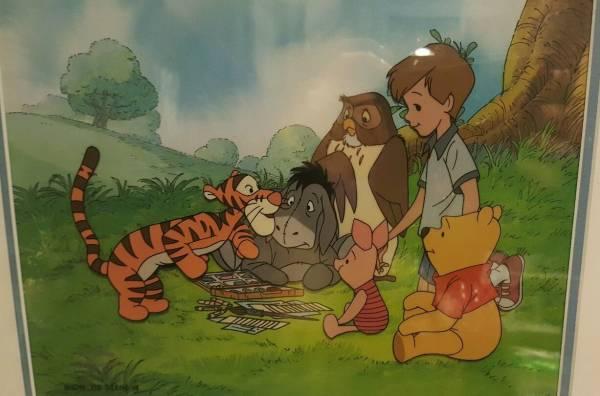 ディズニー クマのプーさん ティガー ピグレット イーヨー クリストファーロビン 原画 セル画 限定 レア Disney 入手困難 ディズニーグッズの画像