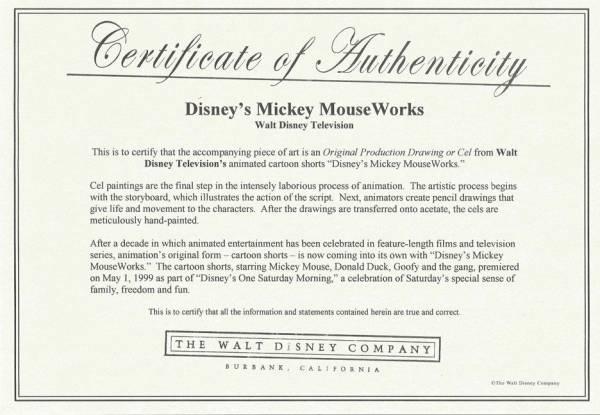 ディズニー ミッキーマウス 原画 セル画 限定 レア Disney 入手困難 Mickey Mouse Works_画像2