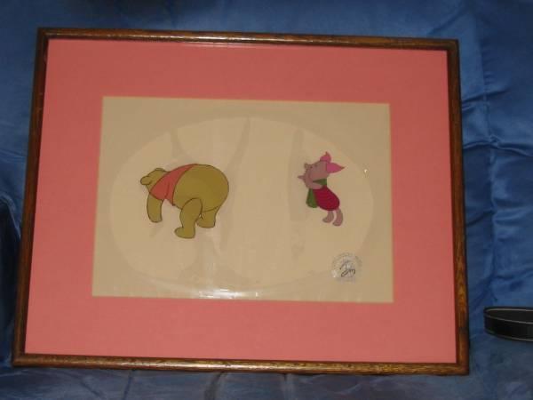 ディズニー クマのプーさん ピグレット 原画 セル画 限定 レア Disney 入手困難 ディズニーグッズの画像