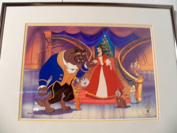 ディズニー 美女と野獣 ベル 原画 セル画 限定 レア Disney 入手困難