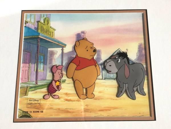 ディズニー クマのプーさん ピグレット イーヨー 原画 セル画 限定 レア Disney 入手困難 ディズニーグッズの画像