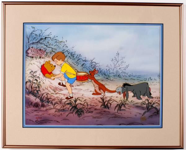 ディズニー クマのプーさん イーヨー クリストファーロビン 原画 セル画 限定 レア Disney 入手困難 ディズニーグッズの画像