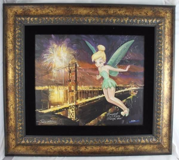Disney Fine Art ディズニーファインアート ピーターパン ティンカーベル 限定 レア ディズニーグッズの画像