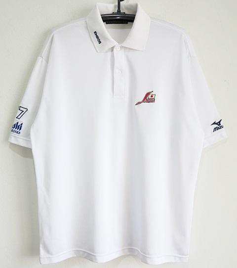 ミズノ製 北京五輪予選 野球日本代表 支給品ポロシャツ#77 白 Oサイズ