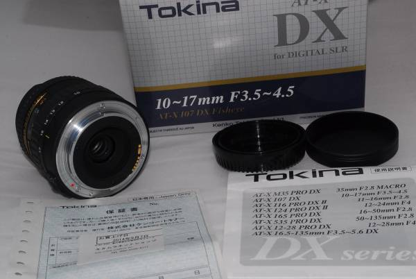 Tokina AT-X107 Fisheye 10-17mm F3.5-4.5 Canon用 箱付き