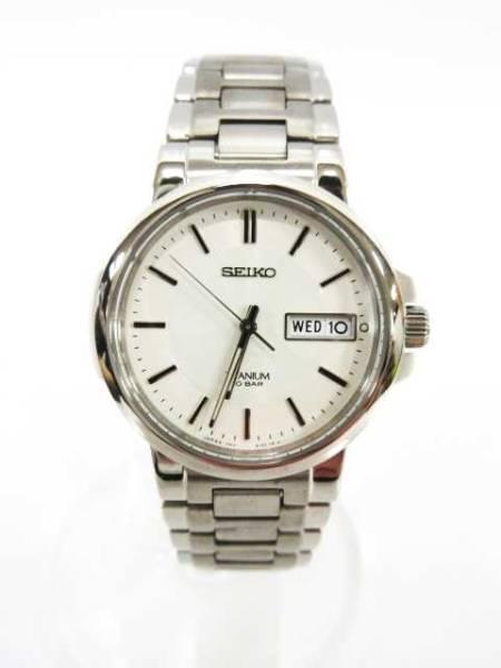 セイコー SEIKO SPIRIT TITANIUM セイコー スピリット チタニウム SCDC055 腕時計 クオーツ 白文字盤