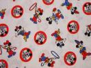ミッキーマウスクラブ 生地 65~68x72 ビンテージ レア柄