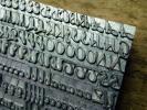 最終 24pt Style Script メタルスタンプ 筆記体 アルファベット ヌメ革 刻印 ハンドメイド 革工芸