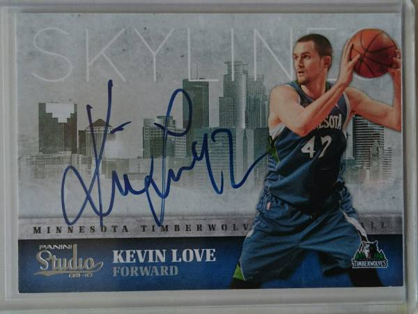 NBA KEVIN LOVE サインカード 09-10 Panini Studio Skylines Signatures #/99 グッズの画像