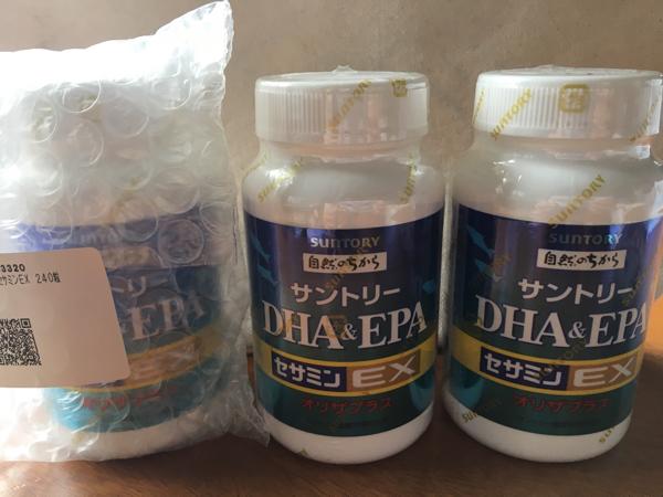 未開封 サントリー DHA&EPA セサミンEX 240粒 3個セット