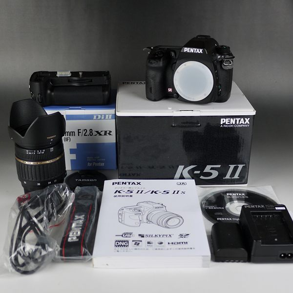 ☆PENTAX K-5II ボディ+大口径ズームレンズ 高画質セット 中古美品 バッテリーグリップ 送料無料!☆