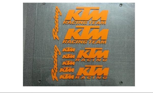 送料無料 KTM RACING TEAM ステッカー シール 11枚セット 海外(2402)