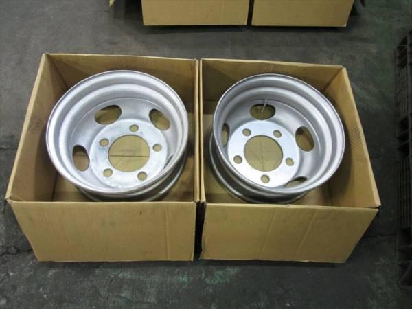 いすゞ エルフ 2トン TOPY DFR15.5×5.25 115-8 5穴 両面再塗装 2本_画像2