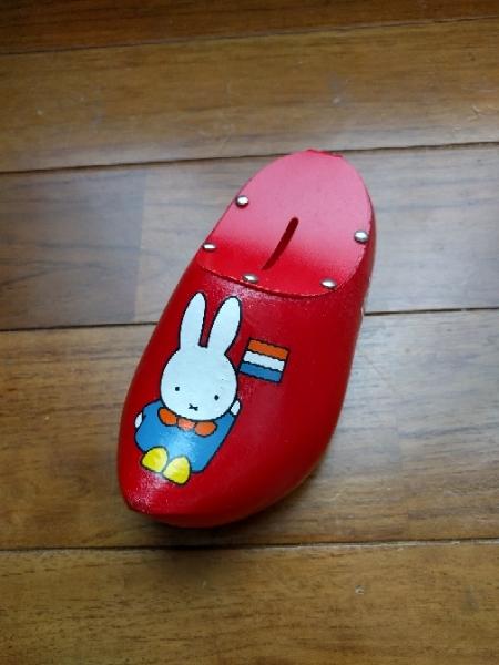 ミッフィー 木靴 鍵付き貯金箱 レア グッズの画像
