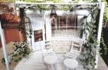 SOPHIA♪1/6ドールハウス♪ガーデン風カフェ♪組立式♪シャビー♪レンガ♪ハンドメイド♪