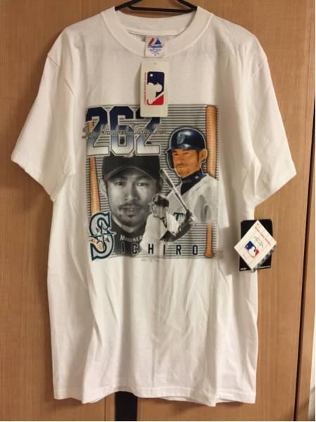新品 SEATTE MARINERS ICHIRO 262安打記念Tシャツ サイズM イチロー MLB シアトル・マリナーズ シーズン最多安打 グッズの画像