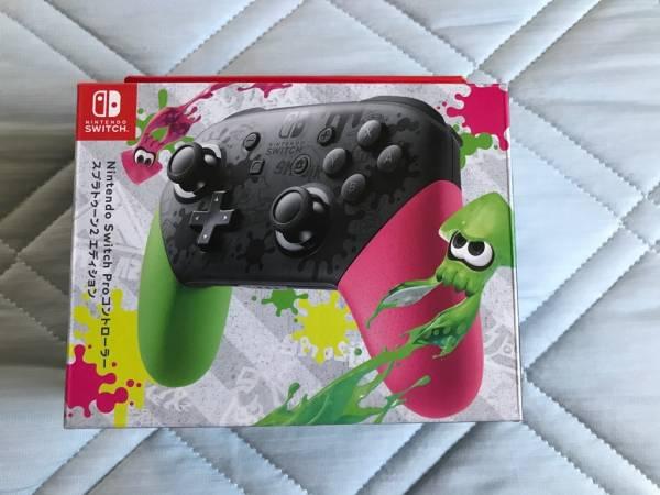 【新品】 Nintendo Switch Pro コントローラー スプラトゥーン 2 エディション 任天堂 スイッチ プロコン ニンテンドー