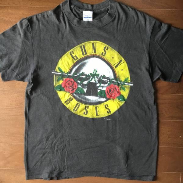 ビンテージ 超激レア ロックTシャツ GUNS N ROSES ガンズアンドローゼス 1987 正規品 L オリジナル VINTAGE バンドTシャツ dragon ash ライブグッズの画像