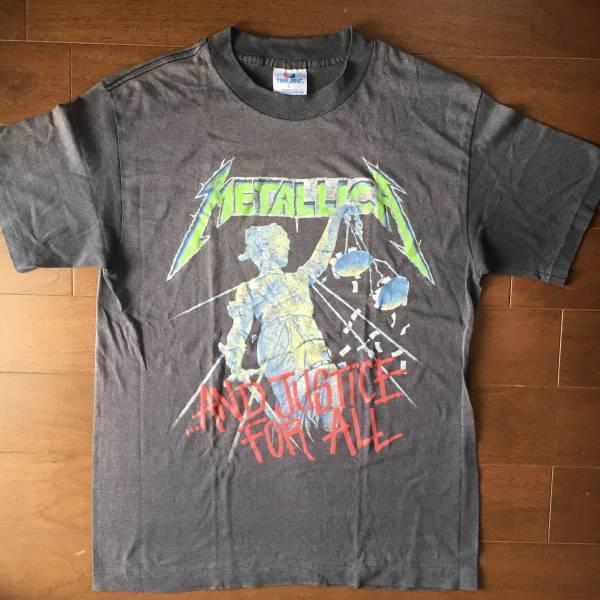 ビンテージ スペシャル 激レア ロックTシャツ METALLICA メタリカ 1988 正規品 オリジナル 本物 黒 L バンドTシャツ VINTAGE 古着 ライブグッズの画像