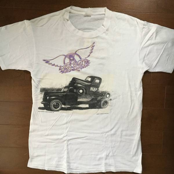 ビンテージ レア ロックTシャツ AEROSMITH エアロスミス PUMP パンプ 1989 白 古着 バンドTシャツ vintage GUNS N ROSES