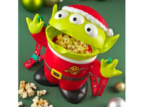 2013 東京ディズニーリゾート クリスマス リトルグリーンメン ポップコーンバケット 新品 ディズニーグッズの画像