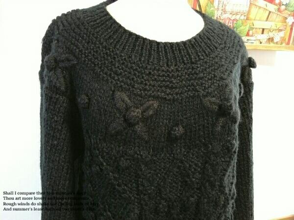 Cool Jtruttin レディース セーター M - Lサイズ 黒 長袖 ニット ゆったり トップス ミセス ⑫1_画像2