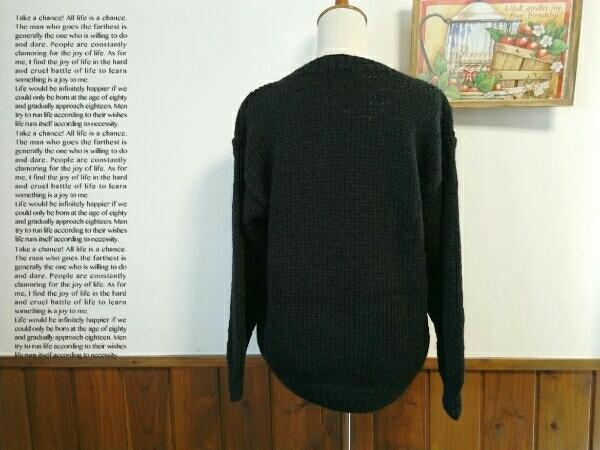 Cool Jtruttin レディース セーター M - Lサイズ 黒 長袖 ニット ゆったり トップス ミセス ⑫1_画像3