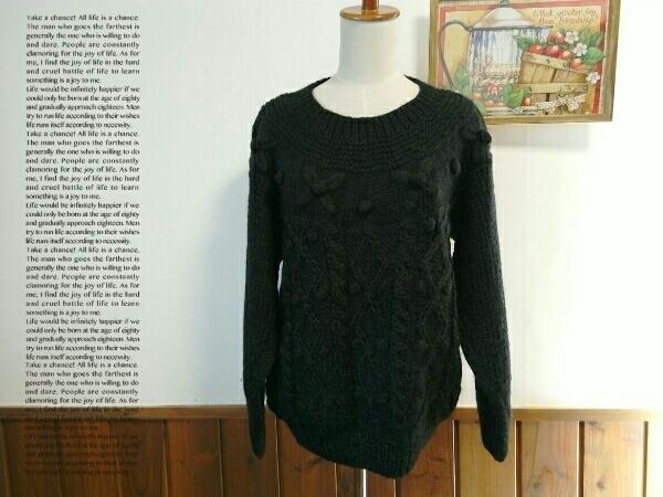 Cool Jtruttin レディース セーター M - Lサイズ 黒 長袖 ニット ゆったり トップス ミセス ⑫1_画像1