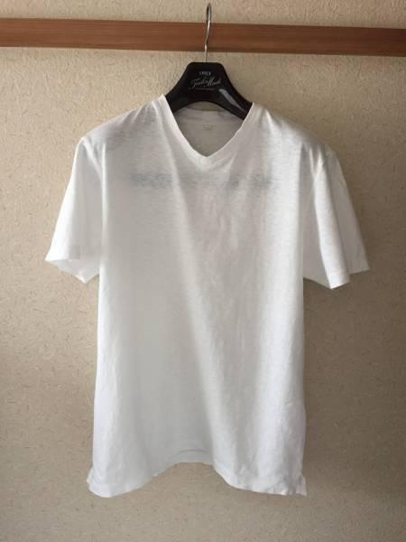 無印良品 MUJI LABO 天竺オーガニックコットンVネックTシャツ 白 S 中古