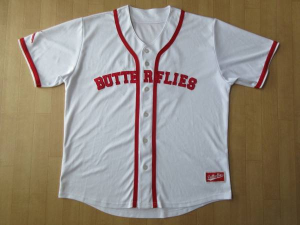 BUMP OF CHICKEN STADIUM TOUR 2016 BFLY Baseball Shirts WHITE刺繍 パッチ ベースボール シャツ L 白 赤 ユニフォーム ジャージT藤原基央