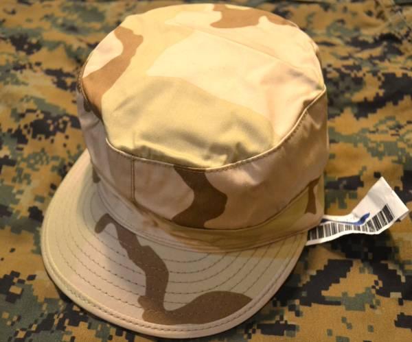 A 新品 タグ付き 実物 米軍放出品 3C デザート迷彩 パトロールキャップ 帽子 # Sサイズ 54cm USMC ACU NWU 6 3/4_画像1