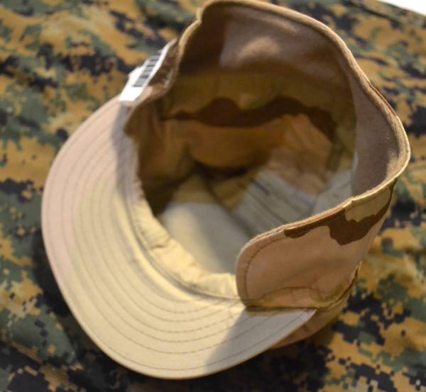 A 新品 タグ付き 実物 米軍放出品 3C デザート迷彩 パトロールキャップ 帽子 # Sサイズ 54cm USMC ACU NWU 6 3/4_画像3