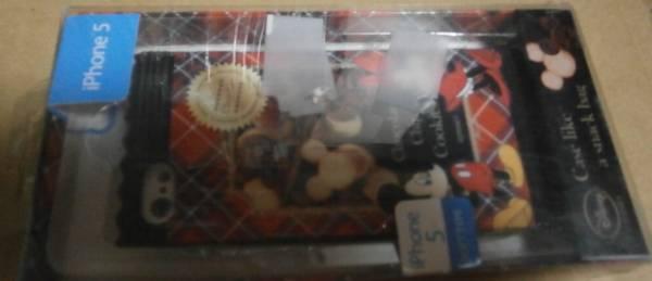 新品 iphone5 ミッキーマウス クッキー ソフトケース ディズニー ソフトジャケット CASE LIKE A SNACK BAG 外箱が傷みや汚れ等有で汚い