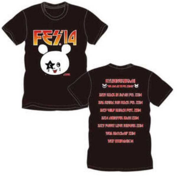 【完売品・新品・未使用・未開封】キュウソネコカミ FES'14 フェスTシャツ 2014(Mサイズ) ライブグッズの画像