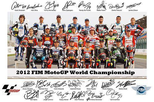 Moto GP☆All Riders☆ロッシ カル サインフォト写真ポスター