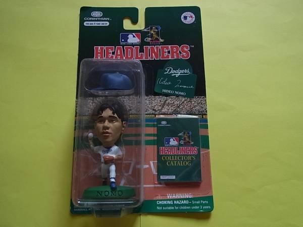 野茂英雄 フギュア HEAD LINERS ドジャース 未開封 近鉄 プロ野球 レア 貴重 グッズの画像