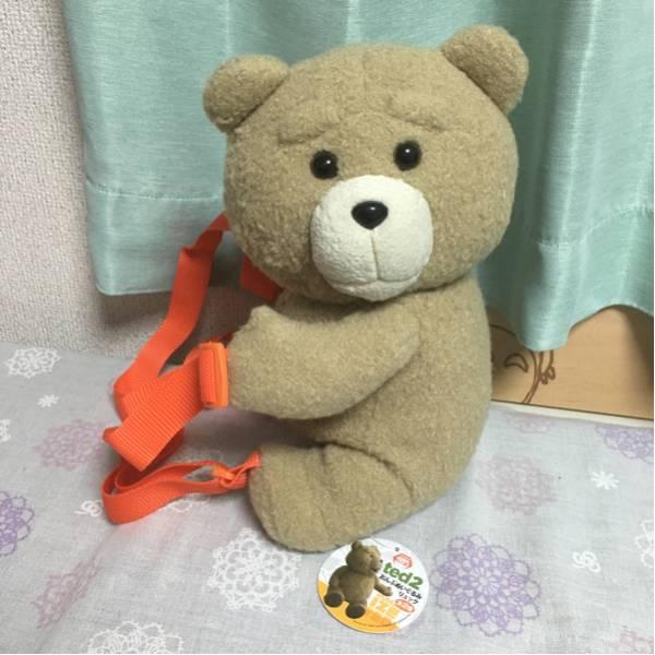ted2 おんぶぬいぐるみ リュック オレンジ テッド グッズの画像