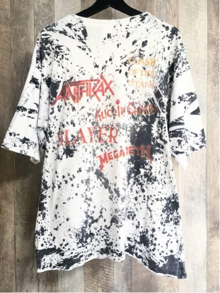 【激レア】'90s ビンテージ Megadeth × SLAYER × ANTHRAX × Alice in Chains 総柄 Tシャツ メガデス スレイヤー アンスラックス vintage