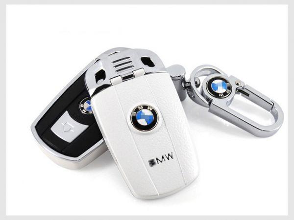 ◆BMW◆BMW旧型高級キーケースセット(白シボ)/1シリーズ/3シリーズ/5シリーズ/6シリーズ/Z4/X1/X5/X6/M3/M5/M6