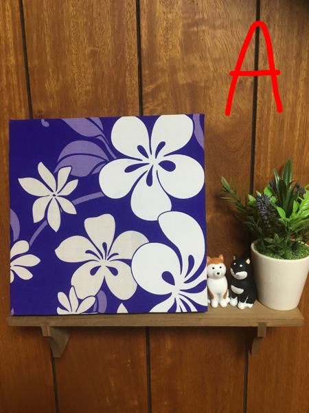 Hawaiian ☆ wooden fabric panel AorB