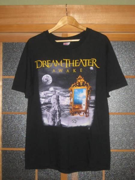 90'S USA製 ドリーム・シアター DREAM THEATER WAKING UP THE WORLD TOUR JAPAN1995 バンドTシャツ サイズL(42-44)黒 良品